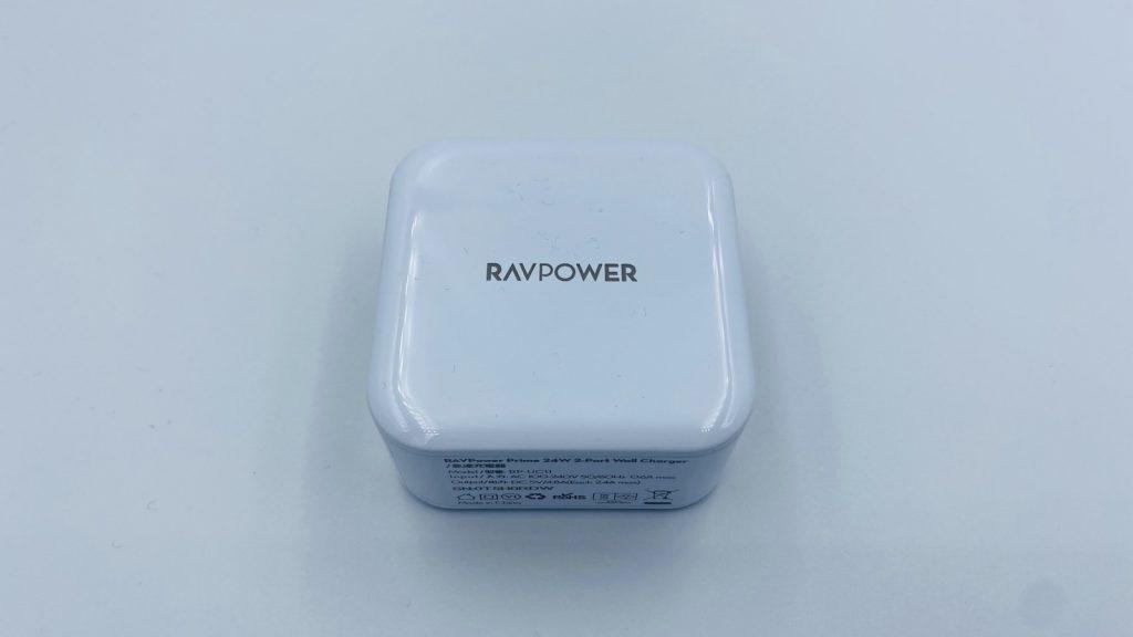 RAVPower USB充電器2ポート24W RP-UC11 (ホワイト) 本体正面